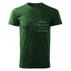 Snowman ASCII Art T-shirt