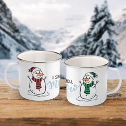 I Smell Snow - Enamel Mug