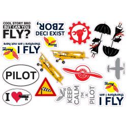 Set de Autocolante aviație,...